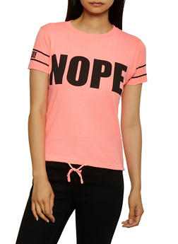 Nope Not Today Drawstring Tee - 0302033870011