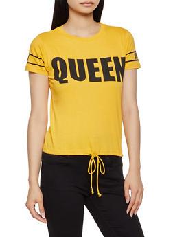 Queen Drawstring Hem Tee - 0302033870013
