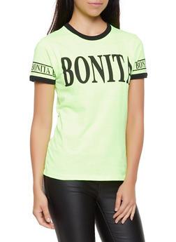 Bonita Contrast Trim Tee - 0302033871644