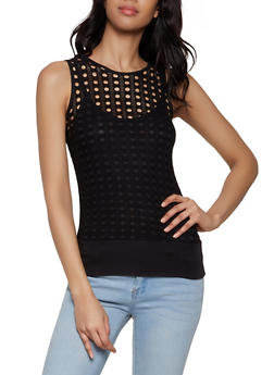 Perforated Tank Top   0302038342299 - 0302038342299