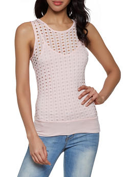 Perforated Tank Top | 0302038342299 - 0302038342299