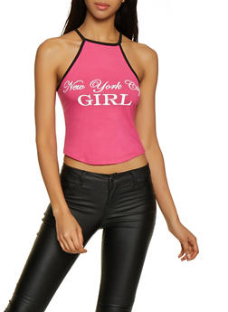 New York City Girl Cropped Tank Top - 0302038349412