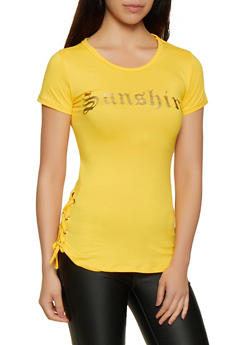 5f2455fe8 Sunshine Foil Lace Up Tee - 0302038349415