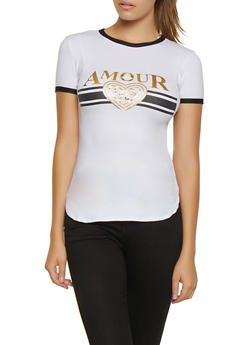 Foil Amour 1968 Graphic Tee - 0302038349416