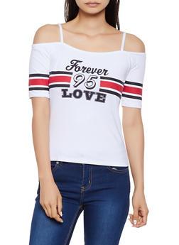 Forever Love 95 Cold Shoulder Top - 0302038349417