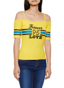 Forever Love 95 Cold Shoulder Top - 0302038349417