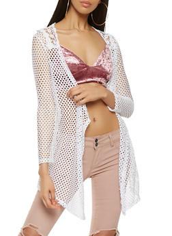 Crochet Trim Fishnet Duster - 0304038342290