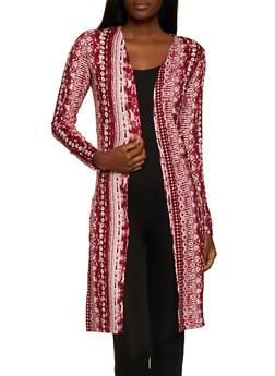 Tie Dye Soft Knit Duster - 0304038349310