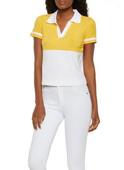 Color Block Polo Shirt - 0305015990314