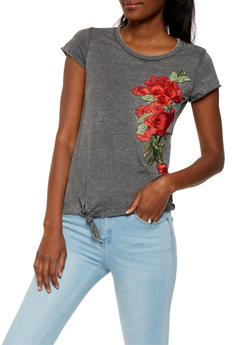 Rose Patch Tee - 0305015994632