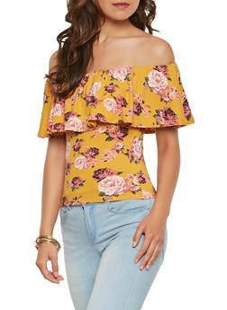 Floral Off the Shoulder Top - 0305015995396