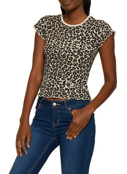Cheetah Print Thermal Tee - 0305015997331