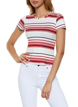 Soft Knit Striped Tee - 0305038349332