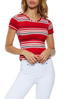 Soft Knit Striped Tee - 0305038349332