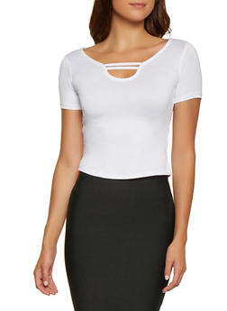Caged Neck Top - 0305038349368