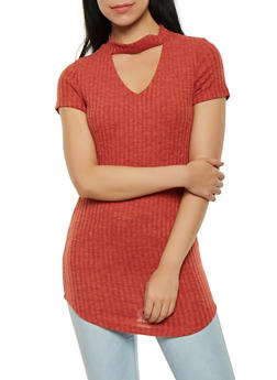 Brushed Knit Tunic Top - 0305058750090