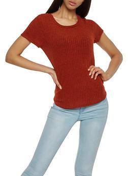 Ribbed Knit Tee - 0305058750808