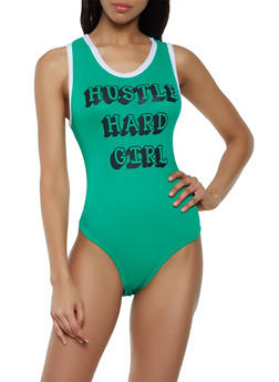 Hustle Hard Girl Bodysuit - 0307038349267