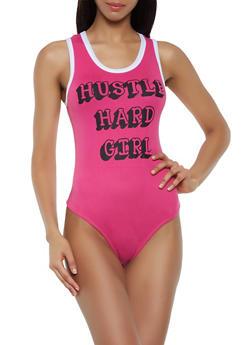 Hustle Hard Girl Bodysuit - 0307038349267
