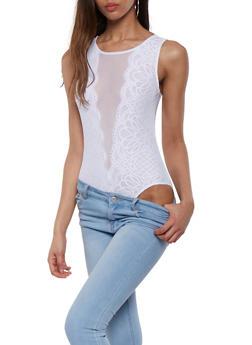 Lace Mesh Bodysuit - 0307054268976