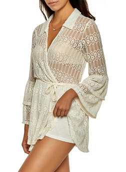 Lace Tiered Sleeve Bodysuit - 0307074293021
