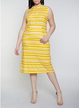 Plus Size Hooded Tank Dress - 0390038349056