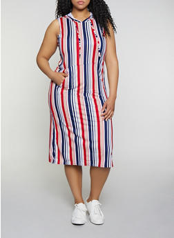 Plus Size Hooded Midi Dress - 0390038349058