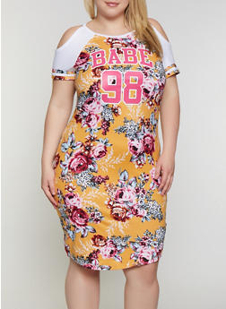 Plus Size Babe 98 Floral Dress - 0390038349618