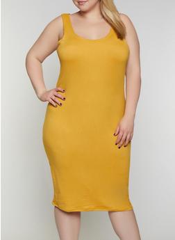 Plus Size Tank Midi Dress - 0390038349807