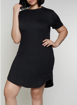 Plus Size Soft Knit T Shirt Dress | 0390038349815 - 0390038349815
