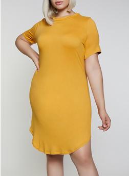 Plus Size Soft Knit T Shirt Dress | 0390038349815 - 0390038349815