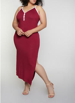 Burgundy 3X Maxi Dresses