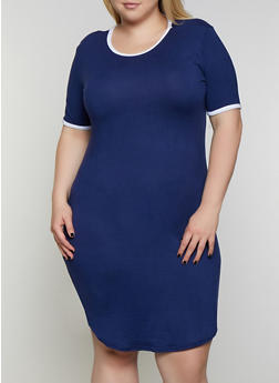 Cheap Plus Size T-Shirt Dresses | Everyday Low Prices | Rainbow
