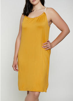 Plus Size Rope Strap Midi Dress - 0390038349879