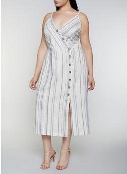 Plus Size Striped Cami Maxi Dress | 0390051064098 - 0390051064098