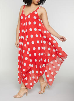 3a3a05c81904 Plus Size Polka Dot Trapeze Dress - 0390056121681