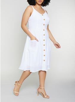 White Plus Size Dresses | Rainbow