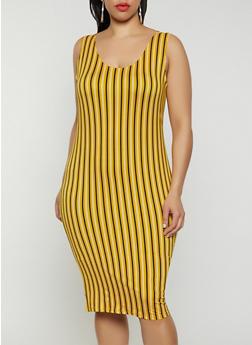 Plus Size Striped Tank Dress | 0390058750532 - 0390058750532