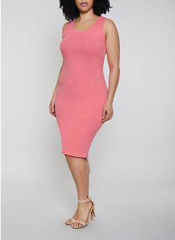 Plus Size Bodycon Tank Dress - 0390058752790