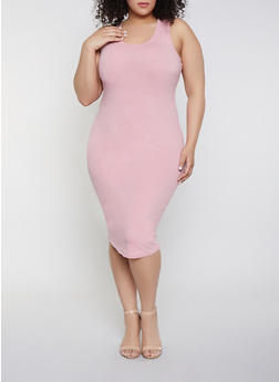Plus Size Bodycon Tank Dress - 0390058752790