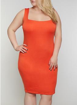 Plus Size Solid Midi Tank Dress | 0390058754431 - 0390058754431