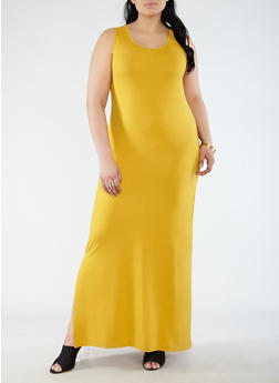 Plus Size Soft Knit Tank Maxi Dress - 0390073374910