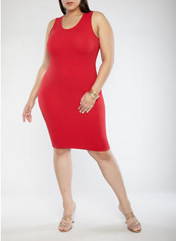 Plus Size Tank Dress - 0390074281510