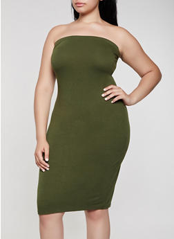 Plus Size Tube Dress - 0390074283516