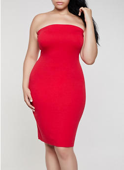Plus Size Tube Dress - 0390074283516