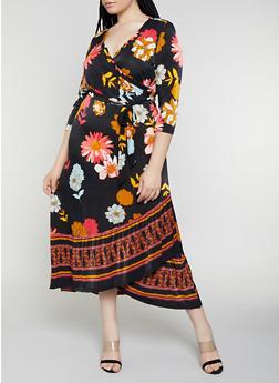 Women Plus Size Floral Dresses