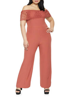 Plus Size Off the Shoulder Jumpsuit - 0392058753095