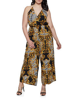 Wide Leg Womens Halter Jumpsuit