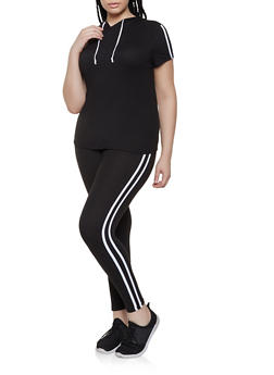 6610bac71 Plus Size Soft Knit Top and Leggings Set - 0392061631509