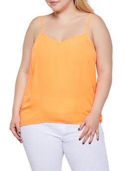Plus Size V Neck Cami - 0803051061016
